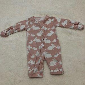 Pink bunny pajamas